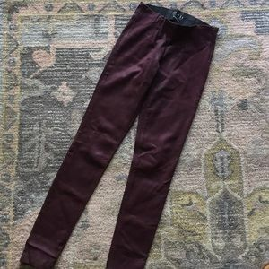 High Waisted Wax Leather Pants